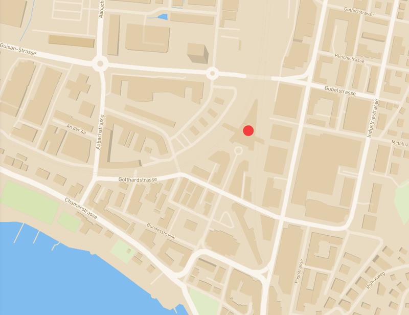 Location map Zug city center
